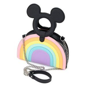 Loungefly MickeyMouse Pastel Rainbow Crossbody Bag